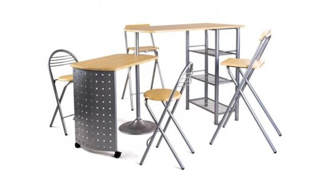 Mesas de cocina tipo barra revista muebles mobiliario for Mesas altas de cocina