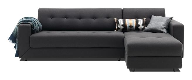 Completo sof cama con chaise longue y espacio para for Sofa cama con almacenaje