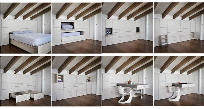 Revista muebles mobiliario de dise o - Muebles multiusos para espacios pequenos ...