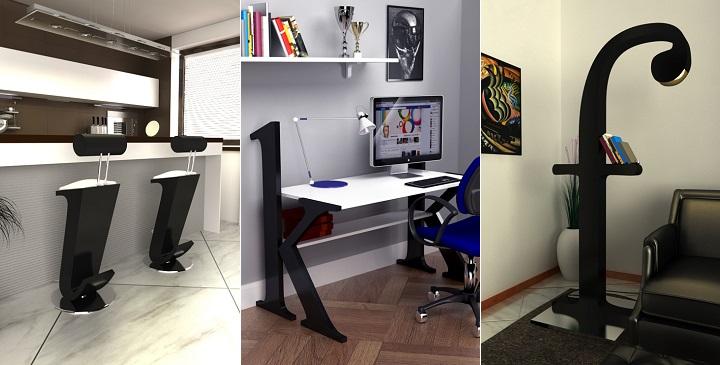 Muebles inspirados en las fuentes tipogr ficas revista for Muebles de oficina ahora 12