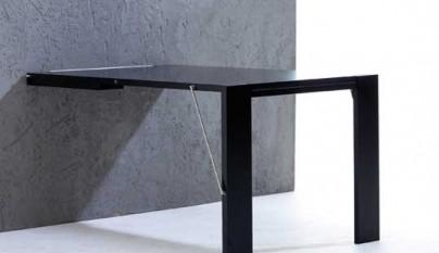 Una mesa plegable que se cuelga en la pared revista - Mesas escritorio plegables ...