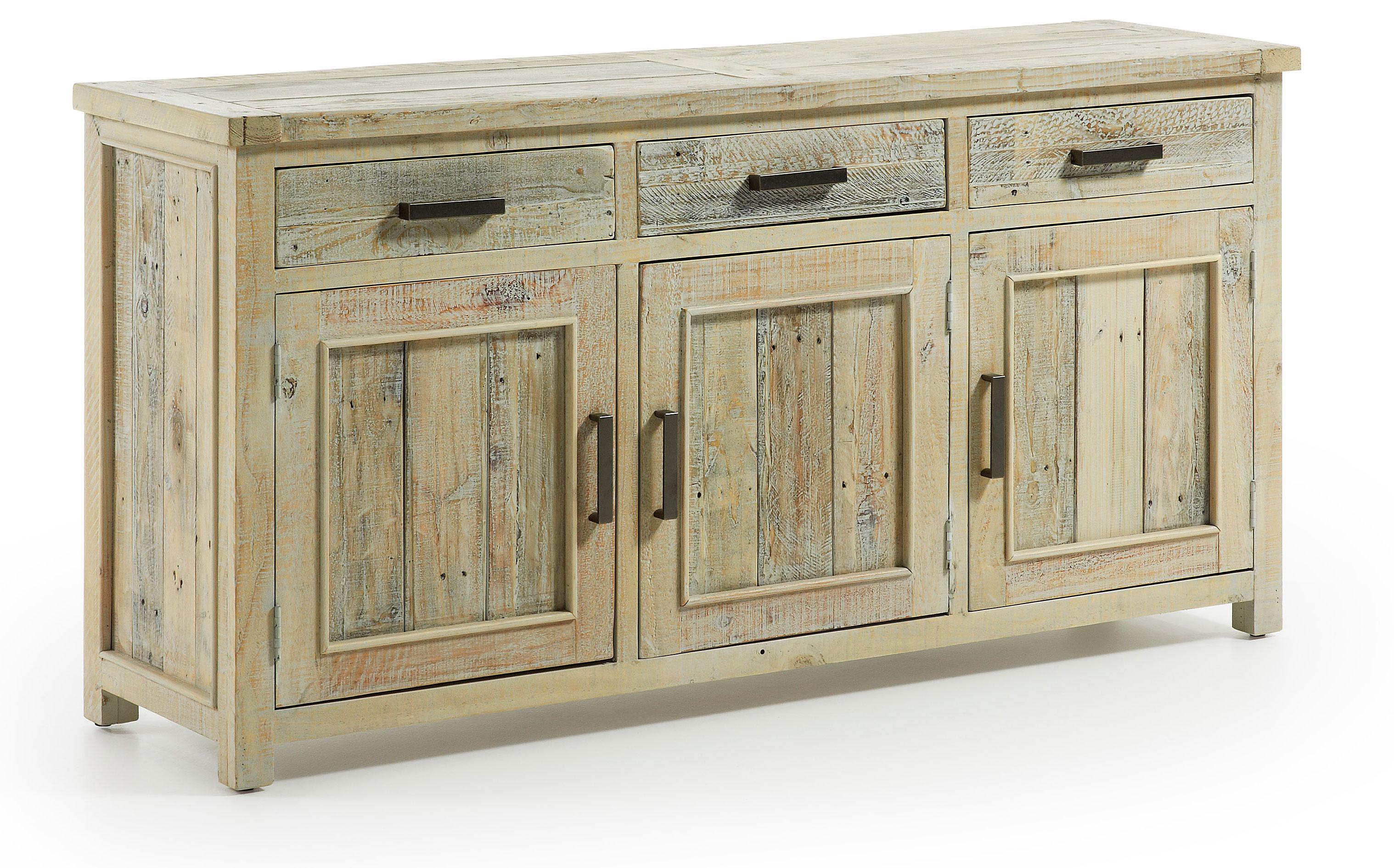 muebles de madera reciclada para ropa