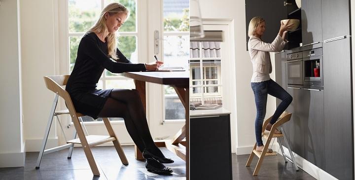 Silla escalera para cualquier estancia revista muebles mobiliario de dise o - Silla para subir escaleras ...