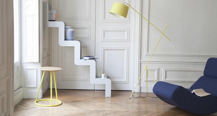 Revista muebles mobiliario de dise o - Estanteria escalera casa ...