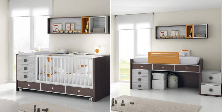 Cuna convertible en 5 alternativas diferentes revista for Muebles diferentes