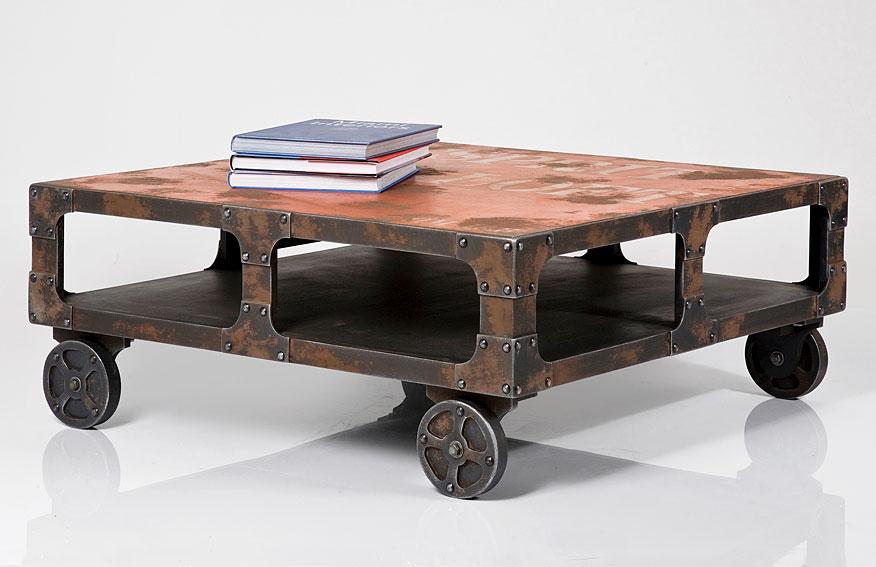 Muebles de estilo industrial elegant carro camarera for Estilo industrial vintage