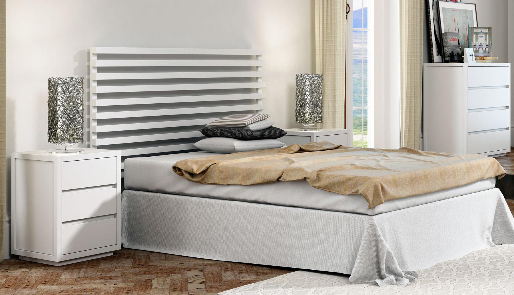 Muebles de dormitorio blancos for Muebles blancos dormitorio