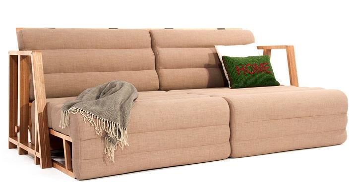 Un sof que se convierte en mesa y cama revista muebles for Mueble que se convierte en mesa