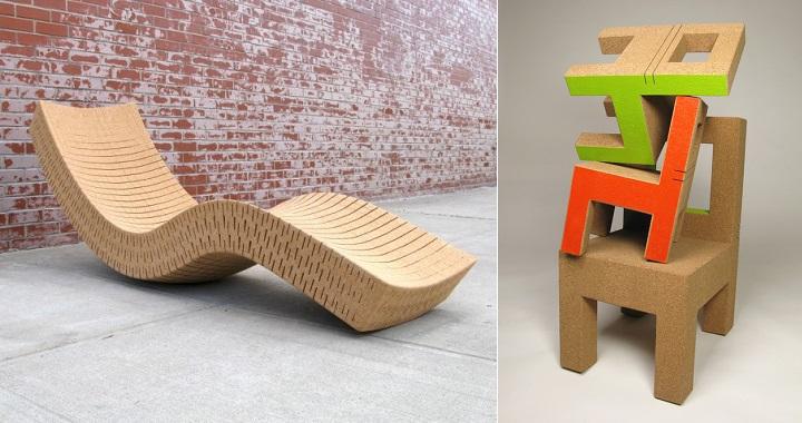 muebles de corcho Daniel Michalik
