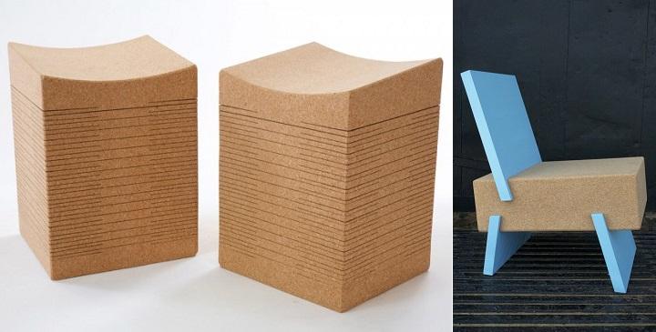muebles hechos de corcho natural revista muebles