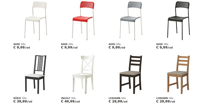 D nde comprar sillas buenas y baratas revista muebles for Sillas comodas baratas