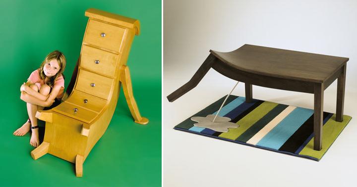 Muebles muy raros de la empresa Straight Line Desings