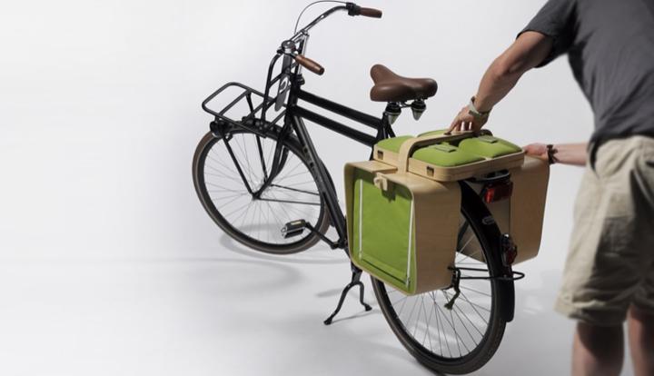 Una cesta de picnic que se convierte en un mueble