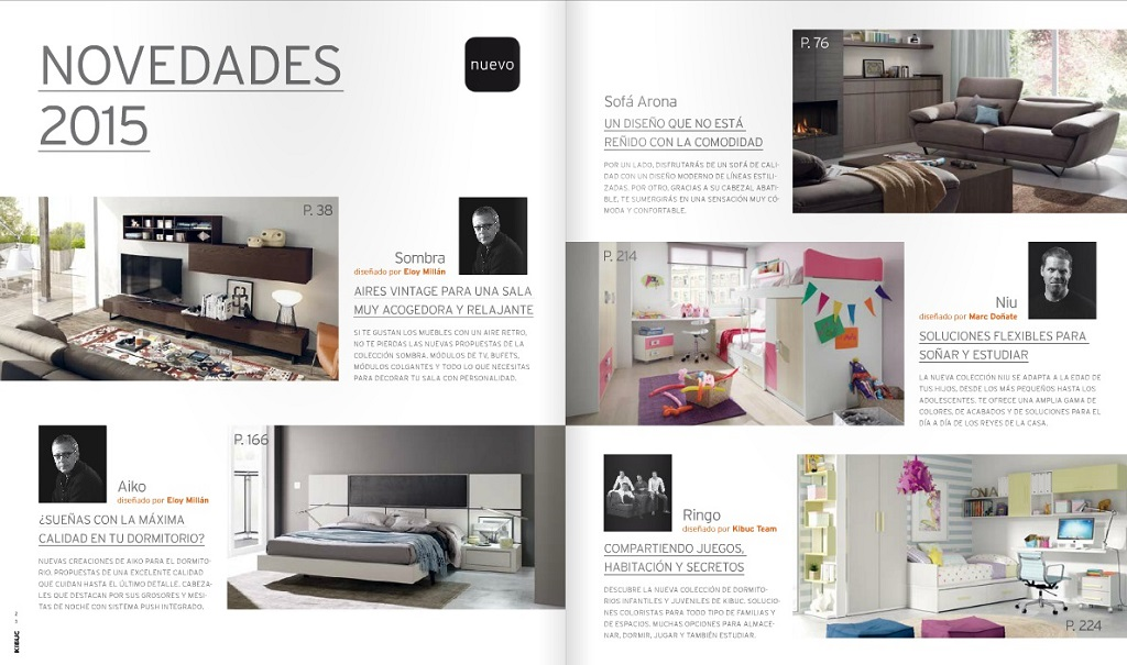 Revista muebles mobiliario de dise o for Folletos de muebles