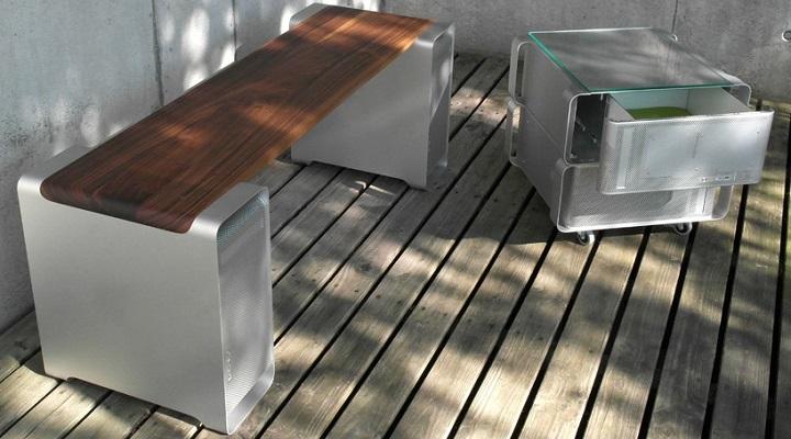 Muebles realizados con antiguos ordenadores apple - Muebles en aluminio ...