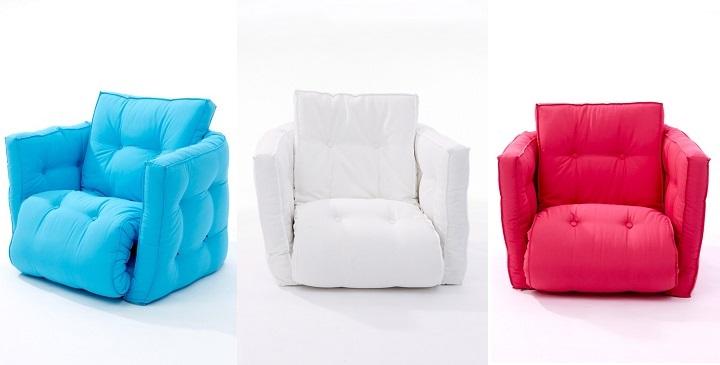 Moderno y pr ctico sill n cama revista muebles for Sillon de 1 plaza