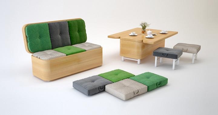 Muebles multifuncionales para ganar espacio revista for Muebles multifuncionales ikea