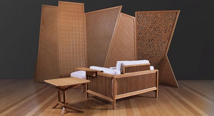 Muebles de bamb que fusionan el estilo oriental con el for Muebles estilo zen