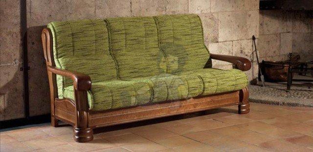Revista muebles mobiliario de dise o - Sofas rusticos de madera antiguos ...
