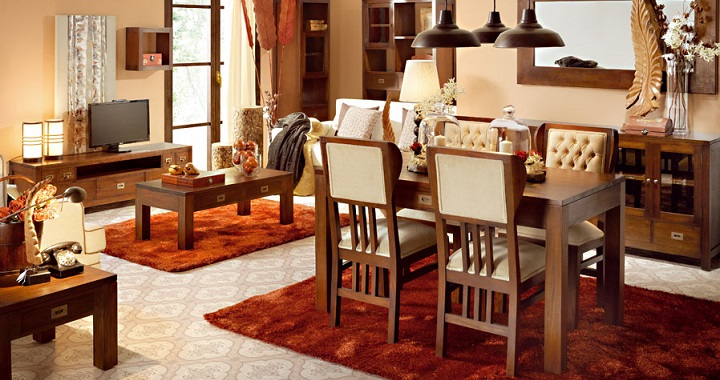 muebles coloniales maderas nobles