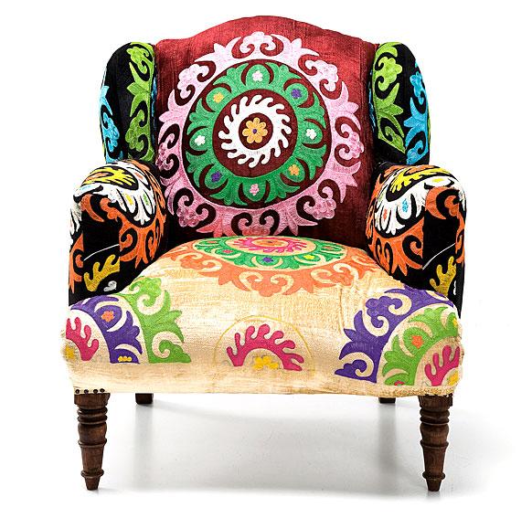 Butaca vintage patchwork mandala revista muebles - Butaca para dormitorio ...