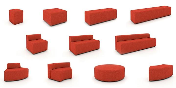 Asientos modulares ideales para oficinas revista muebles for Muebles de oficina knol