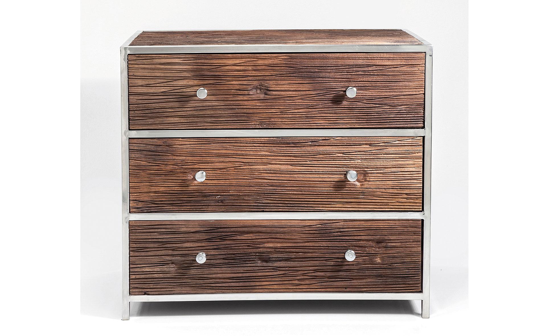 Muebles de madera tallada y piel natural de vaca (822)