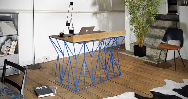 Mesa de oficina inspirada en los nativos americanos - Mesa de trabajo ikea ...