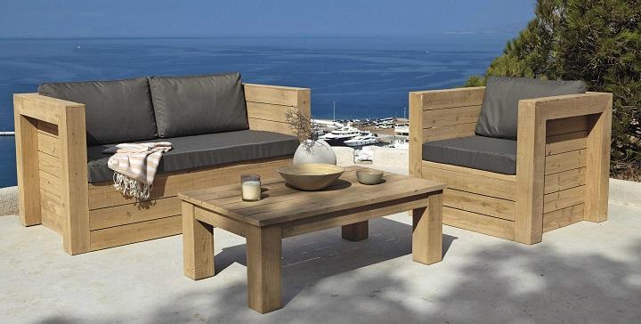 Imagenes de mesas de arrimo rusticas for Muebles de terraza madera