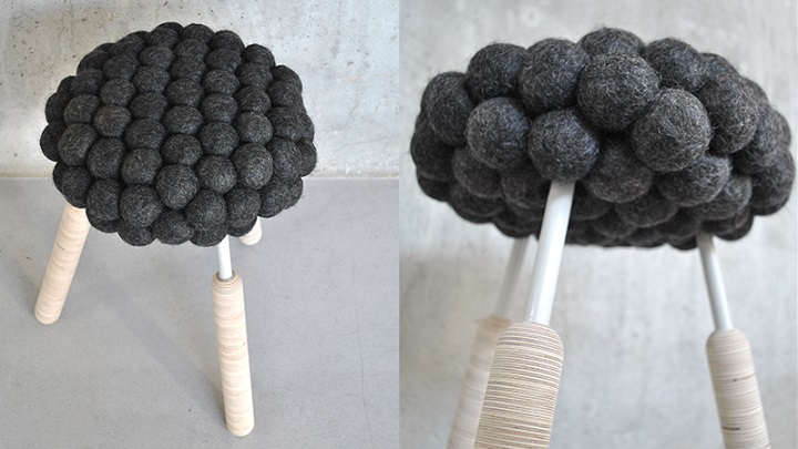 Taburete BLACK SHEEP stool