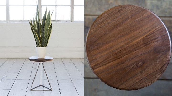 Pyramid Table y Stool  Walnut1