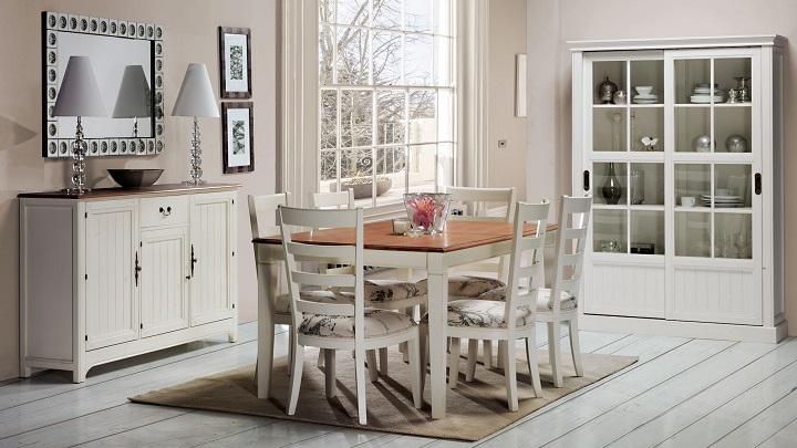 Colecci n de muebles vintage en colores claros - Comedores estilo vintage ...