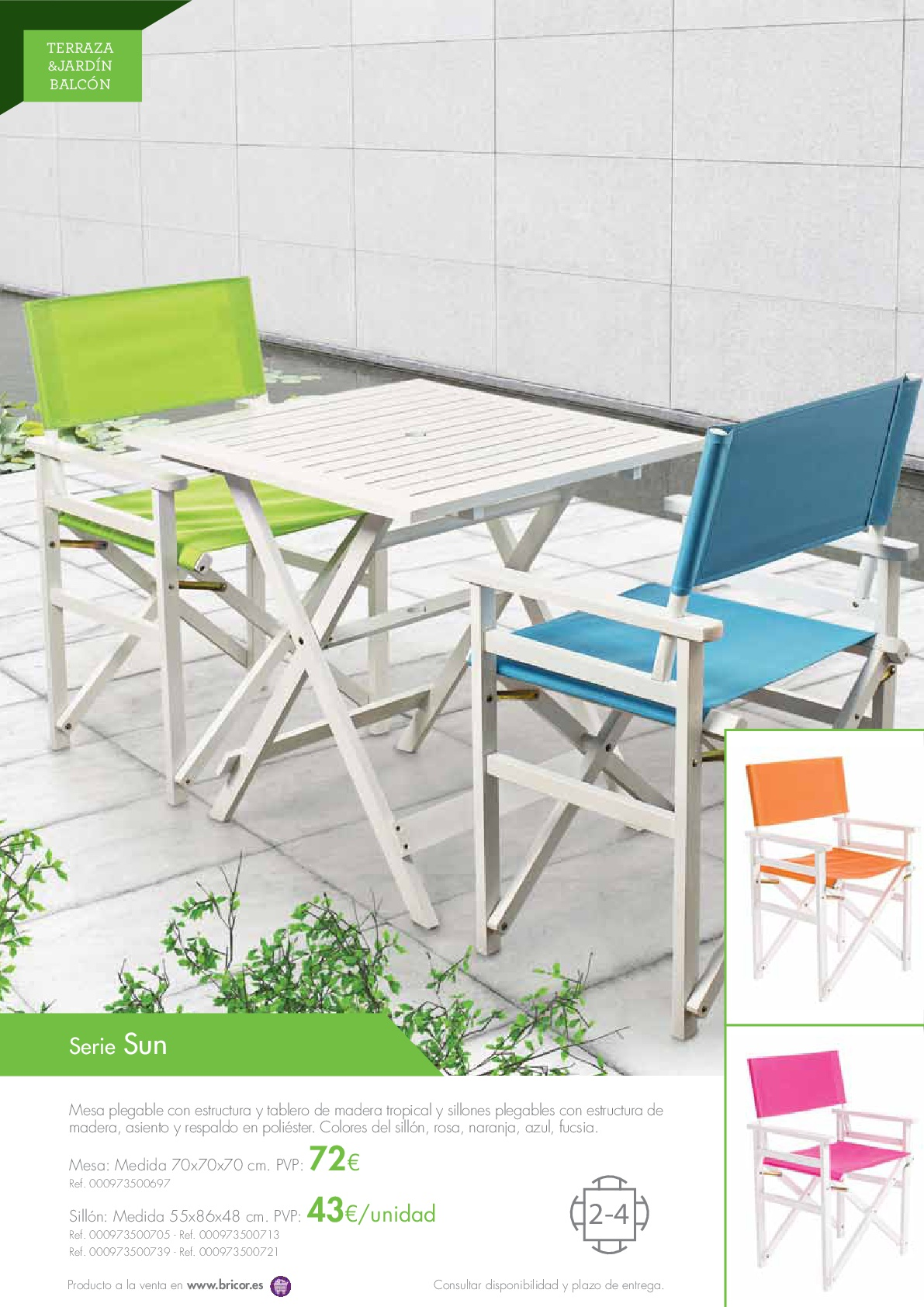 Bricor muebles jardin 201616 revista muebles for Revista jardin 2016