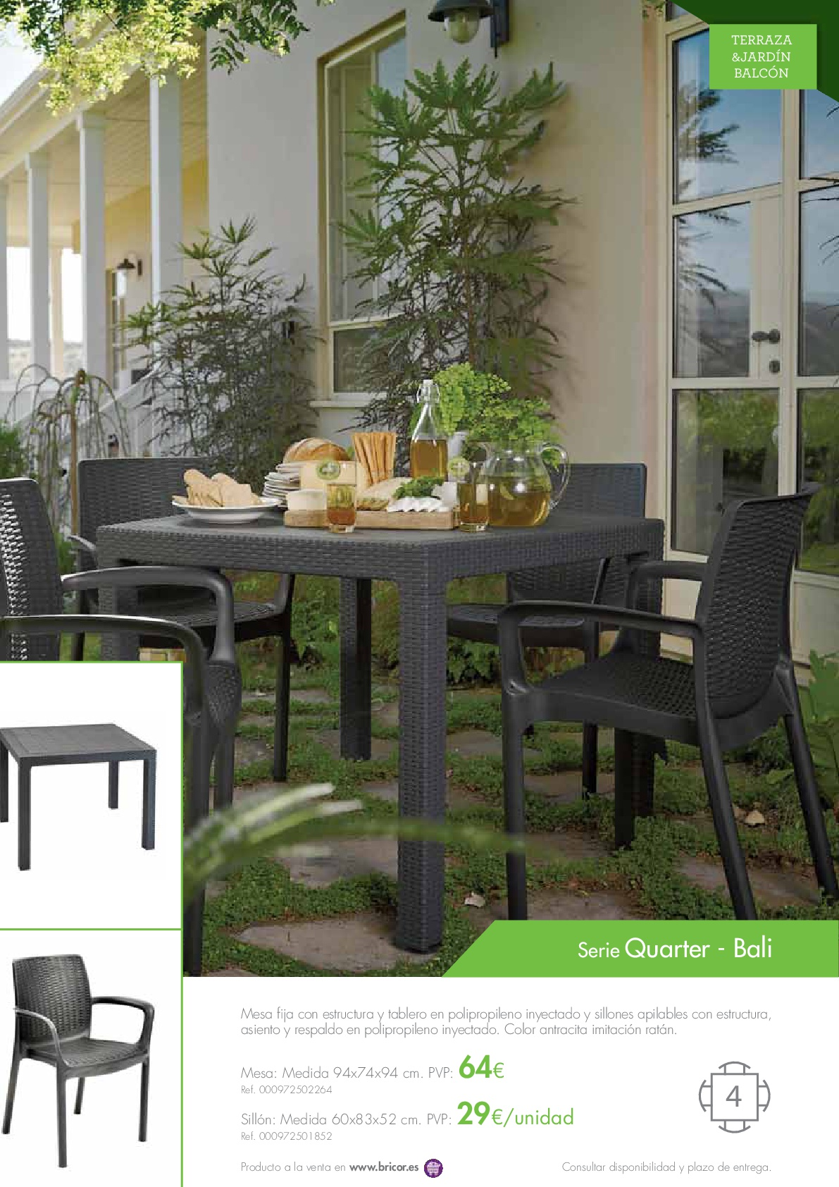 Bricor muebles jardin 201619 revista muebles for Revista jardin 2016