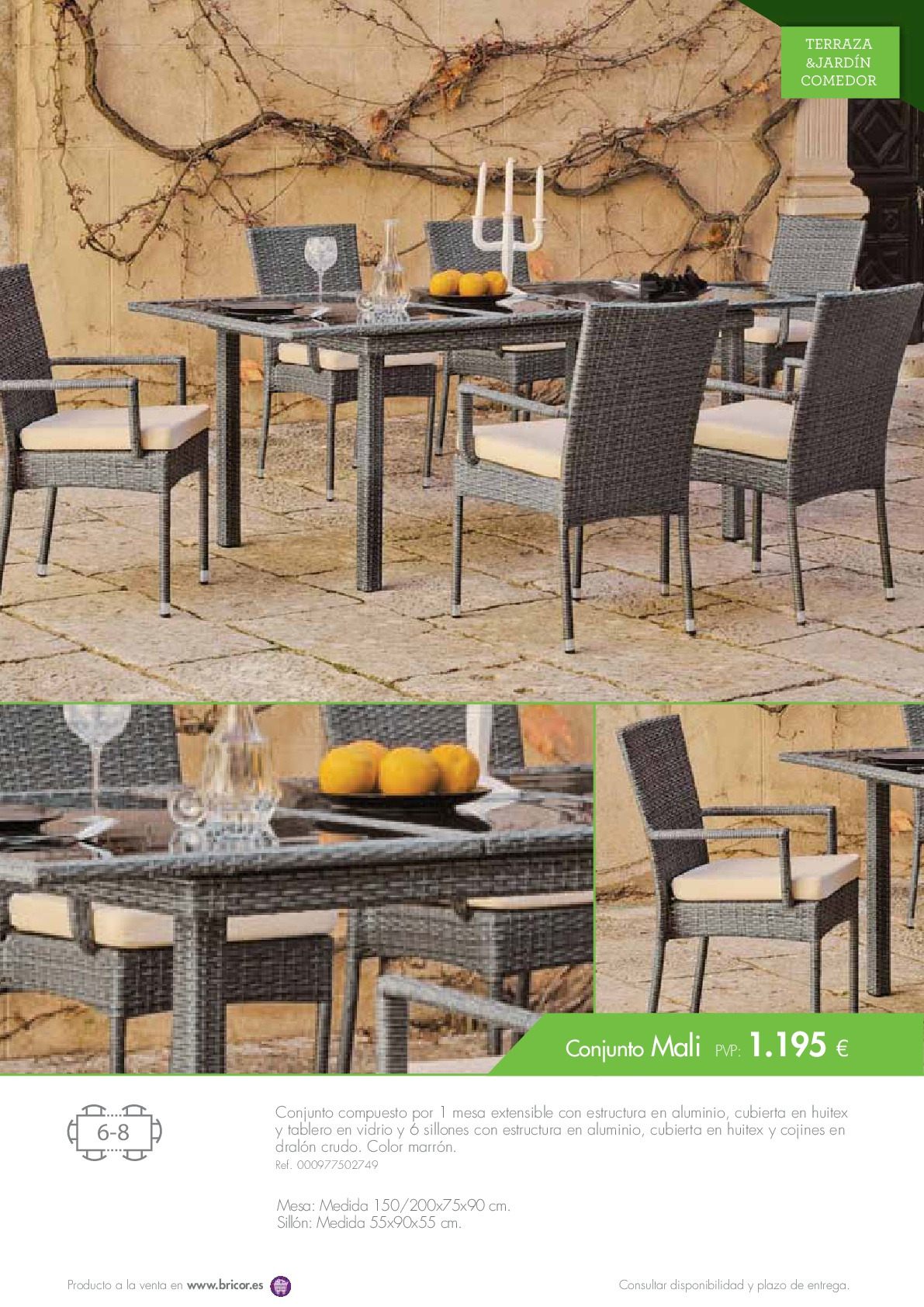Bricor muebles jardin 201629 for Catalogo muebles jardin