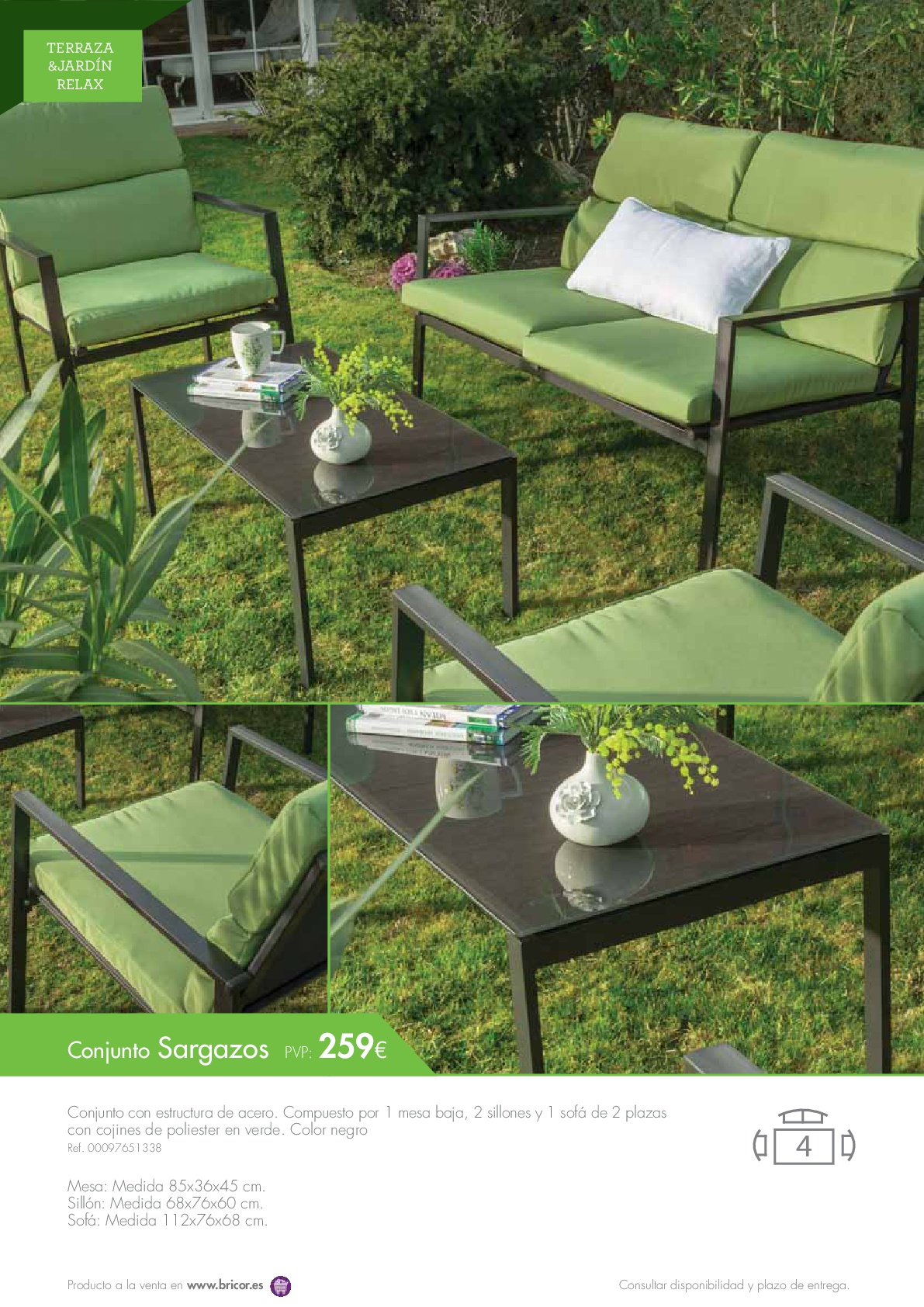 Bricor muebles jardin 201646 for Catalogo muebles jardin