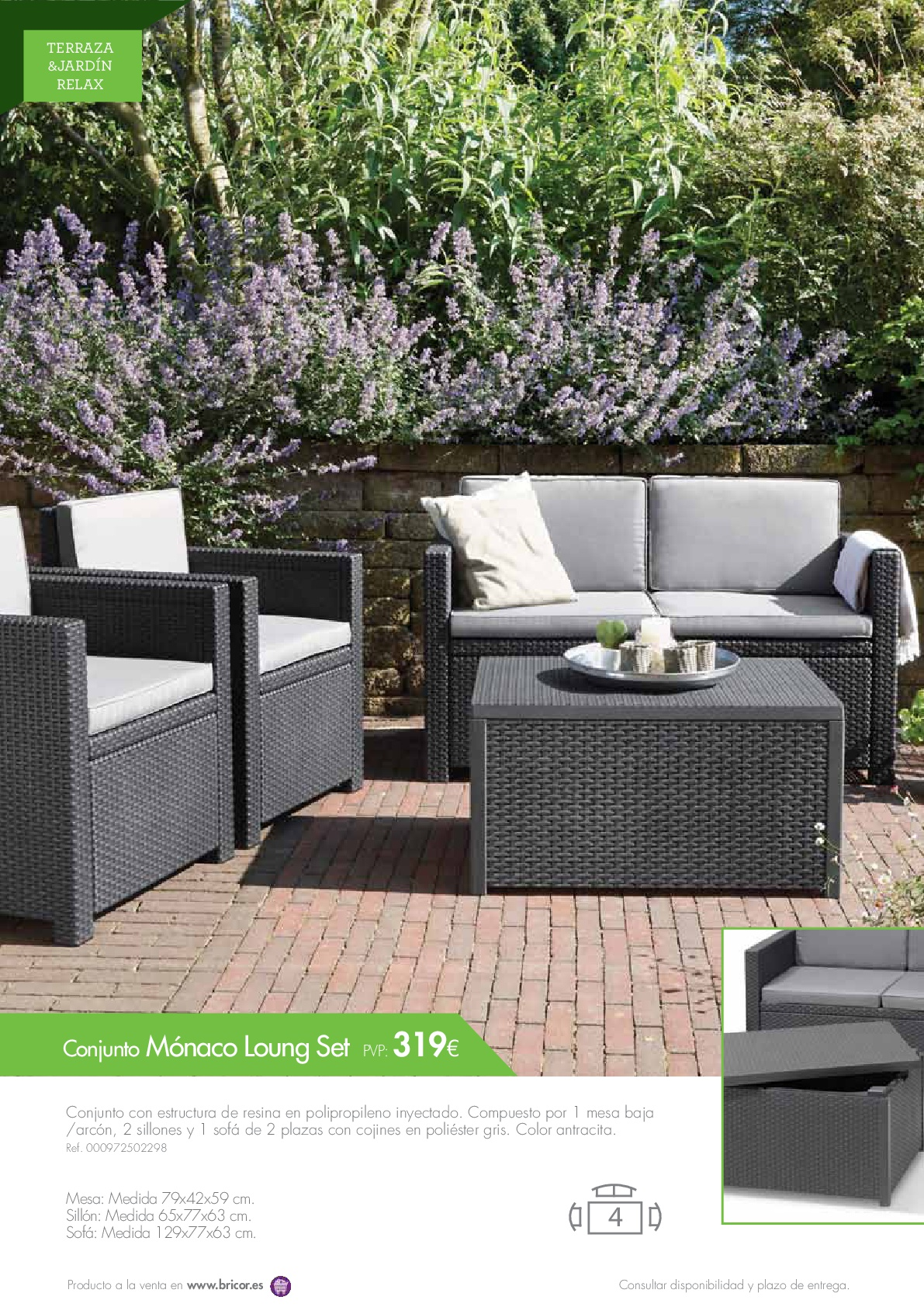 Bricor muebles jardin 201648 for Catalogo muebles jardin