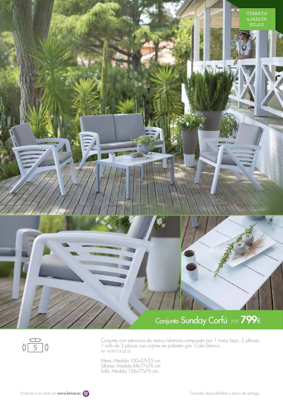 Bricor muebles jardin 201653 revista muebles for Revista jardin 2016