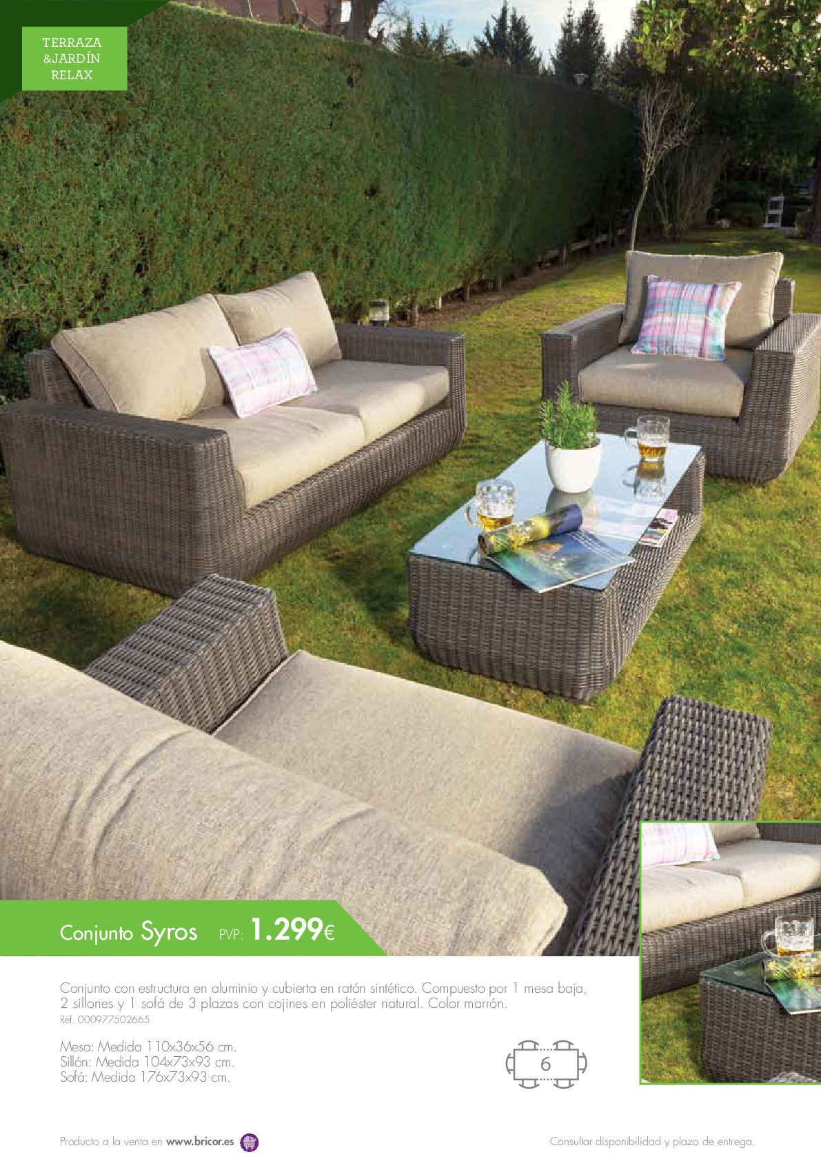 Bricor muebles jardin 201656 revista muebles for Muebles bricor