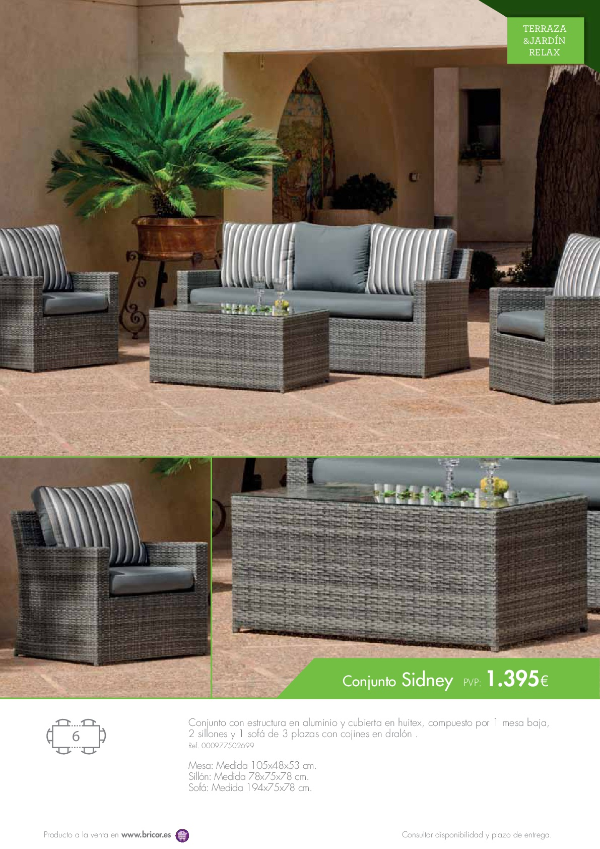 Bricor muebles jardin 201657 revista muebles for Revista jardin 2016