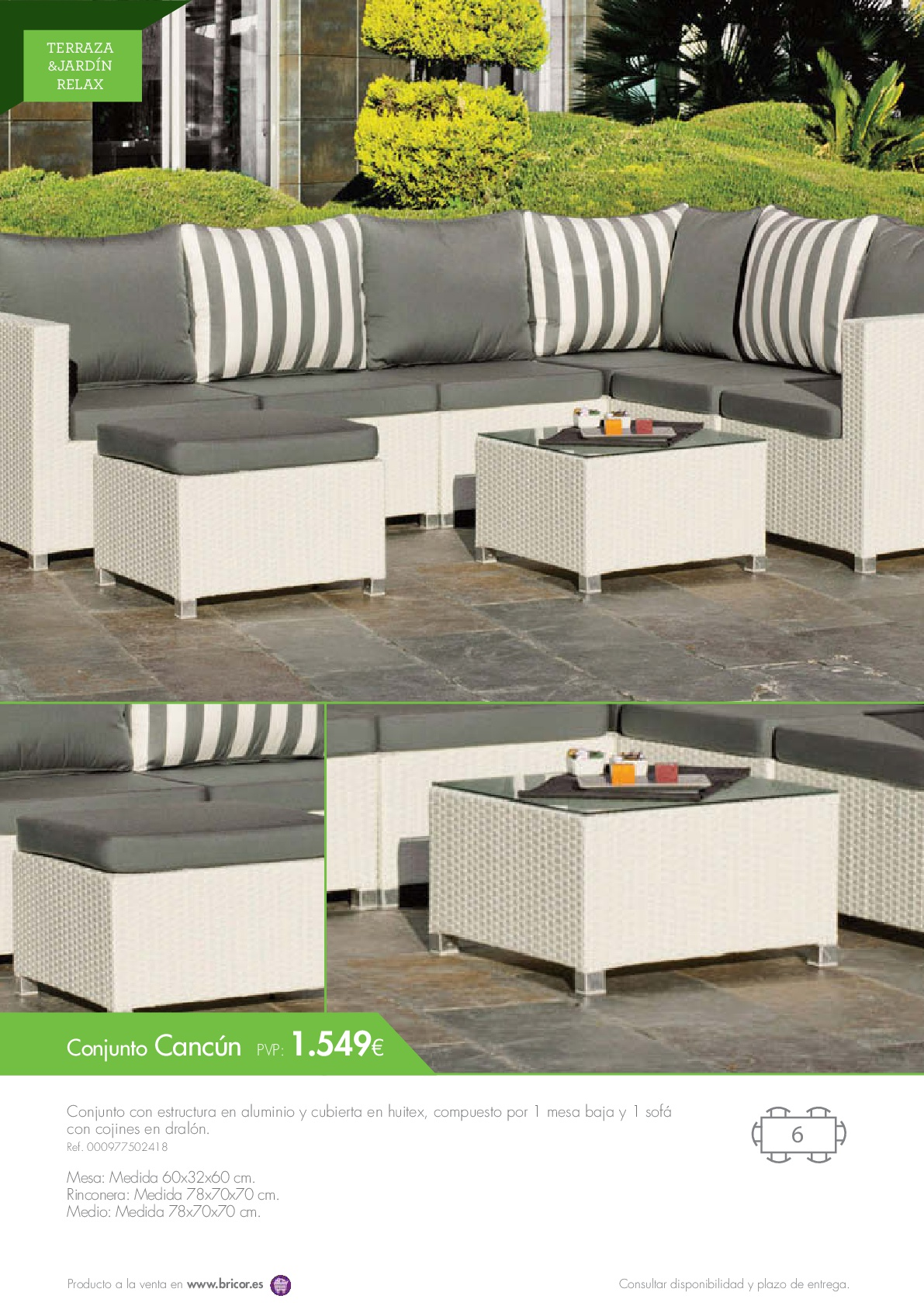 Bricor muebles jardin 201666 revista muebles for Muebles jardin diseno