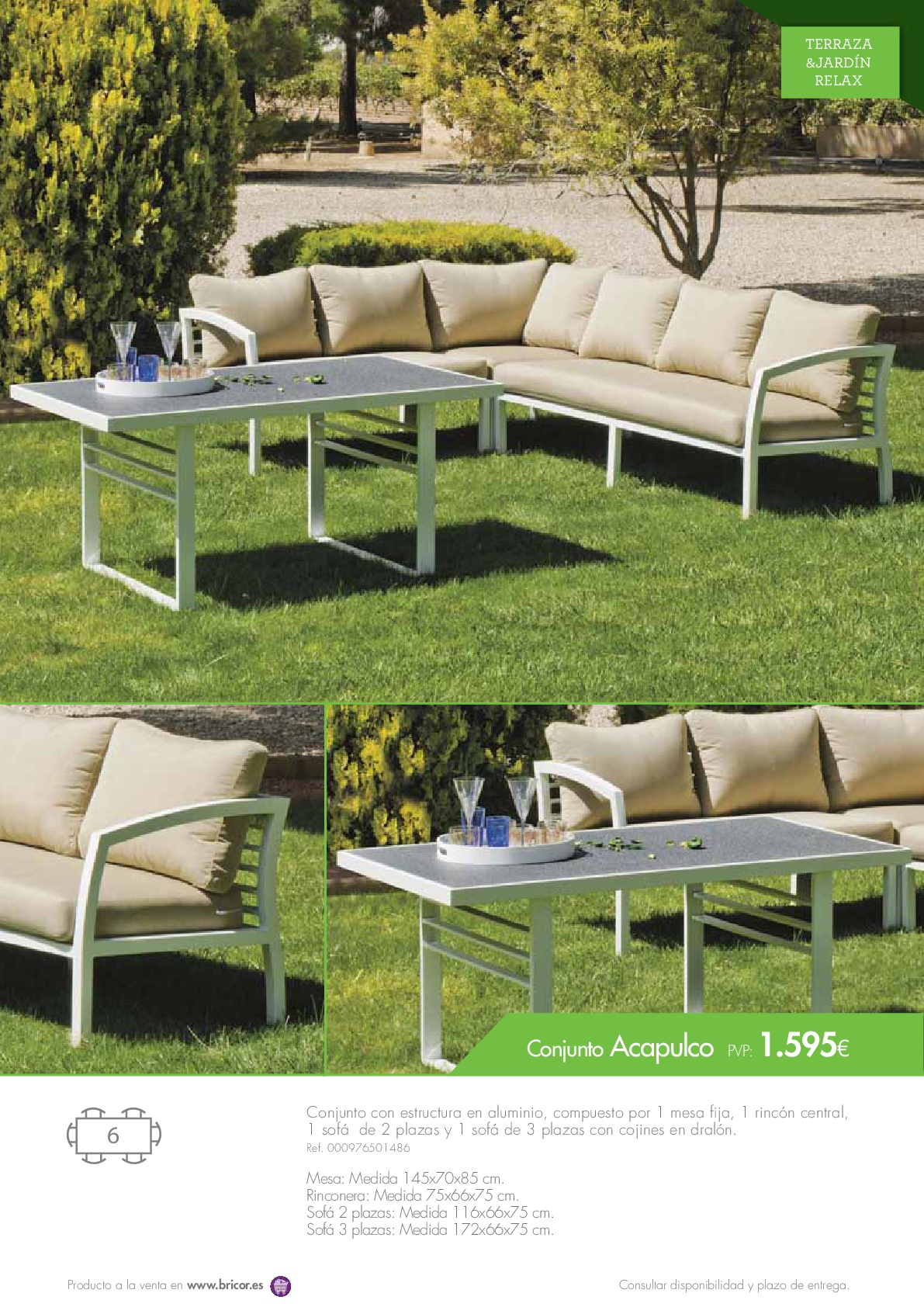 Bricor muebles jardin 201667 for Catalogo muebles jardin
