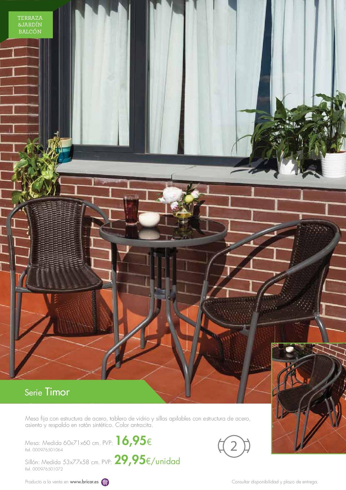Bricor muebles jardin 20168 for Catalogos muebles jardin baratos