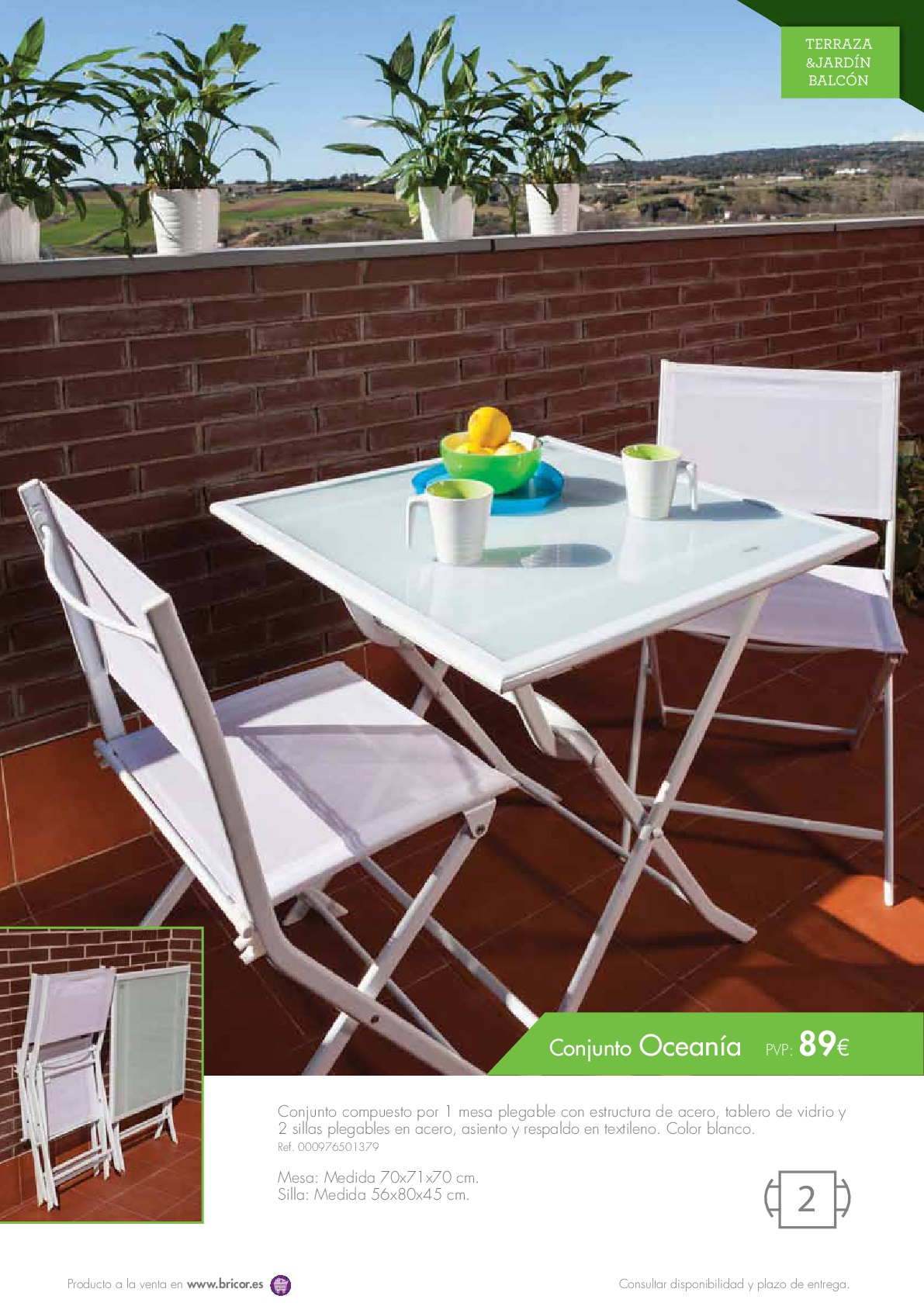 Bricor muebles jardin 20169 revista muebles mobiliario for Muebles bricor