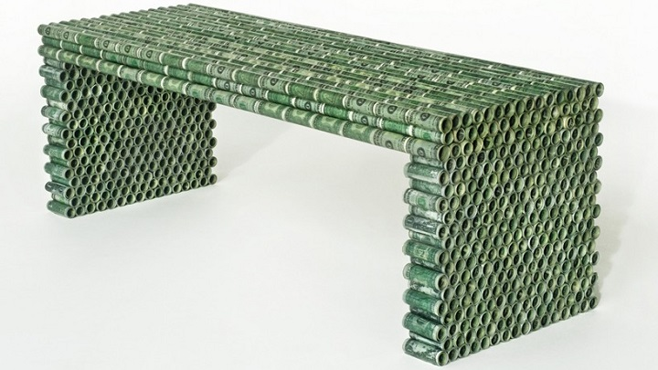 Recycled Currency Series dinero