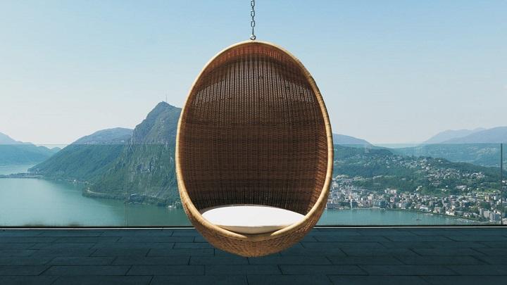 Sillas con forma de huevo revista muebles mobiliario for Silla huevo colgante