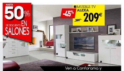 Cat logo 2016 de muebles para el sal n de conforama for Muebles salon conforama