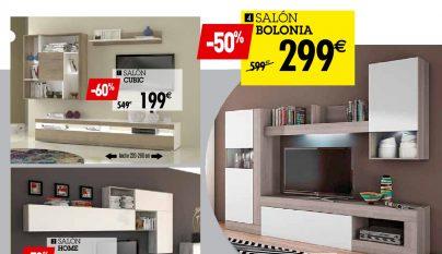 Cat logo 2016 de muebles para el sal n de conforama for Salones completos modernos precios
