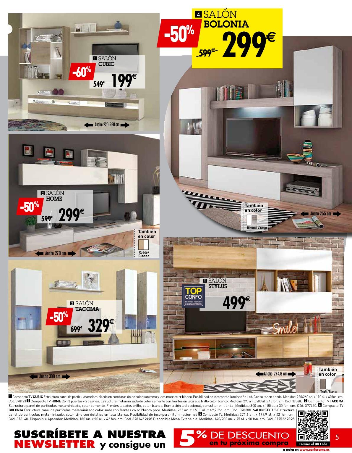 Conforama catalogo soggiorni cat logo conforama ofertas for Espejos de salon conforama