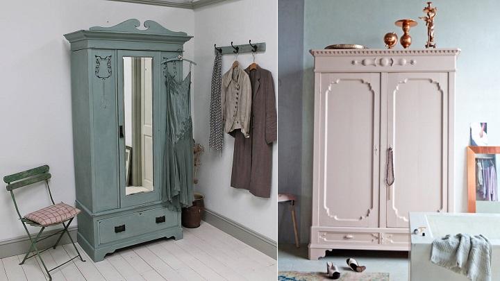 C mo pintar un armario de madera revista muebles - Como pintar un mueble antiguo ...